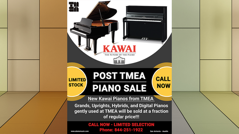 POST TMEA Piano Sale Event!