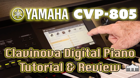 Yamaha CVP-805 Clavinova - Digital Piano Review and Tutorial
