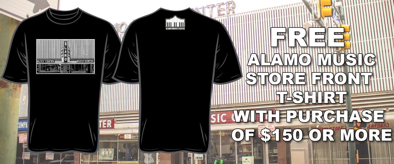 Free Alamo Music Shirt Banner