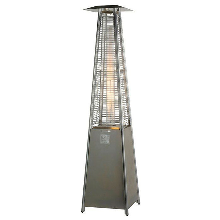 Flame Tower Gas Patio Heater 13kw Stainless Steel