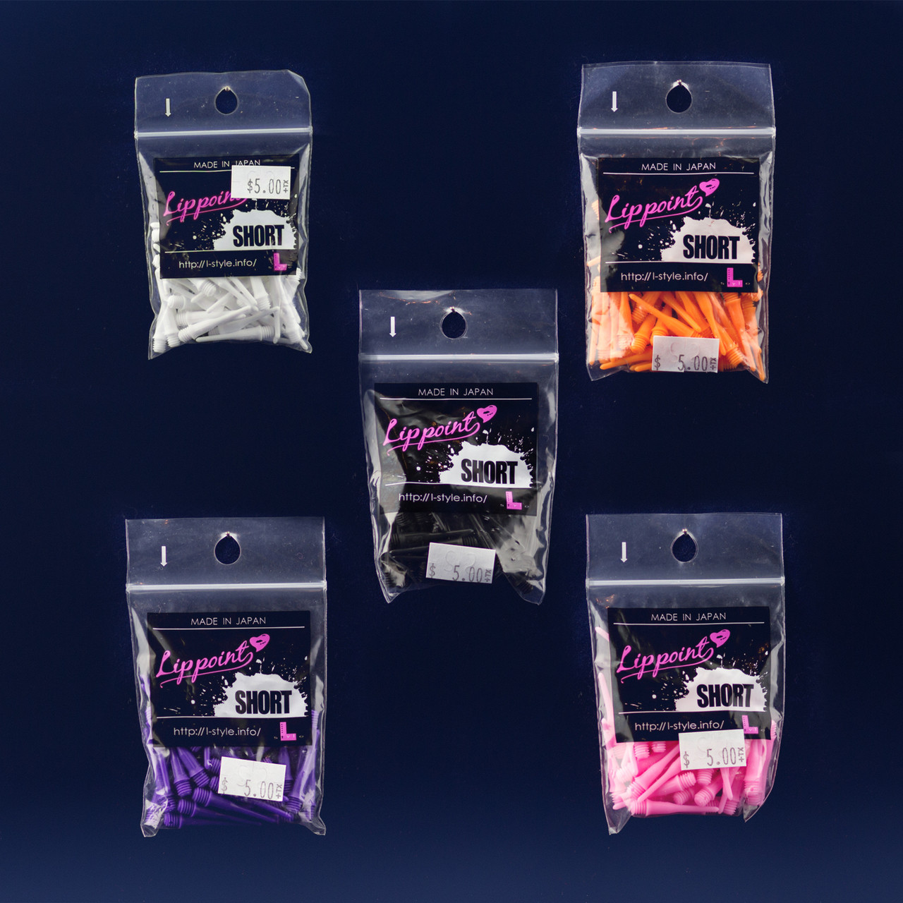 30 Pink Lippoint Premium L-Style Dart Standard Soft Tips w// FREE Shipping