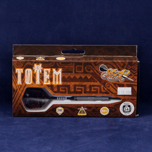 Shot! Totem 2 Series Center Weighted Steel Tip Darts, 85%Tungsten, 22 gram