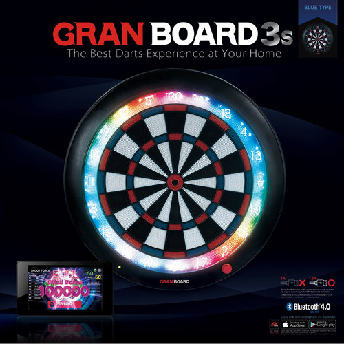 Gran Board 3S Bluetooth Electronic Dartboard - Blue - Free Shipping