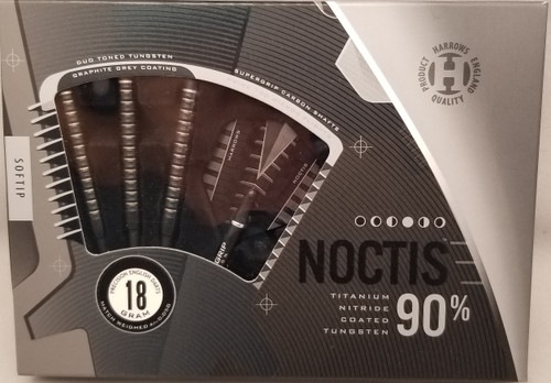 Harrows Noctis, Soft Tip Darts, 90% Tungsten, 20 gram