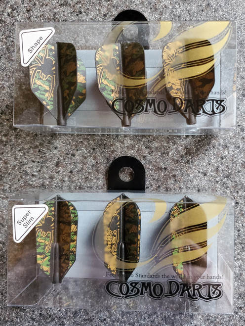 NEW - Fit Flight Darrin Young Signature flights SHAPE / SLIM Camo Spider