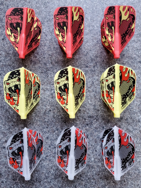 COSMO FIT FLIGHT PUPO TENG LIEH SIGNATURE DART FLIGHTS - SHAPE - 4 COLOR CHOICES