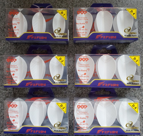 NEW - Cosmo Fight Flight Pro Flights - Type D - White or Black