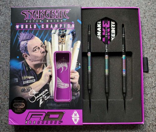 Red Dragon - Snakebite World Champ 2020 - Peter Wright - Soft Tip Darts - 20gm - 90% Tungston