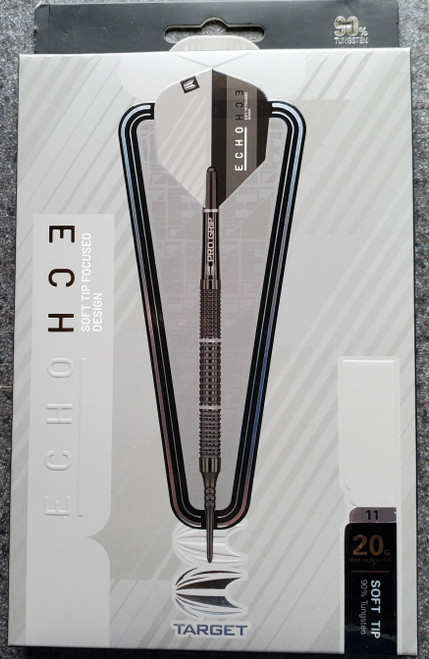 TARGET ECHO 11 SOFT TIP DARTS - 20GM - 90% TUNGSTEN