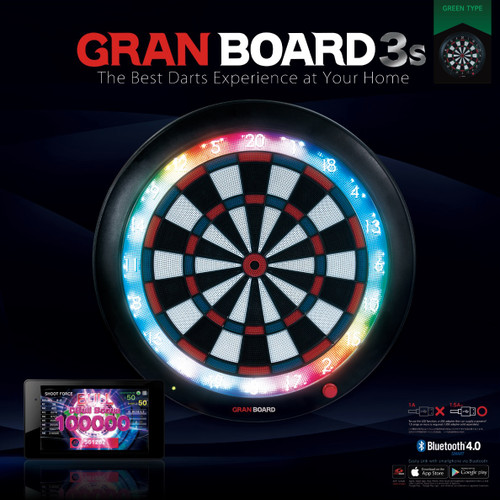 Gran Board 3S Bluetooth Electronic Dartboard -Green  - Free Shipping