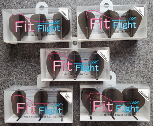 COSMO FIT FLIGHT SINGLE PACK - SMOKE - 5 SHAPE CHOICES