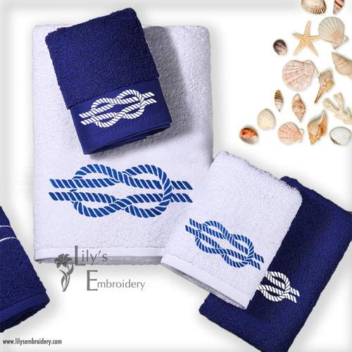 Machine Embroidery Design - Sailor's Knot Design 4 Sizes