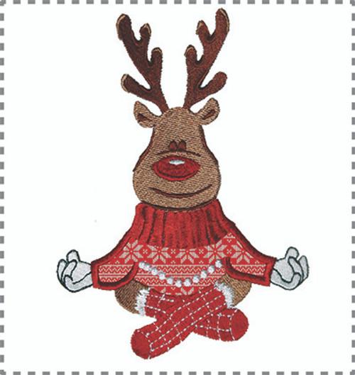 Omm.... Reindeer Appliqué Machine embroidery Design 3 sizes