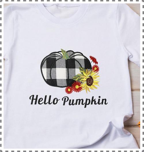 Pumpkin Applique Embroidery