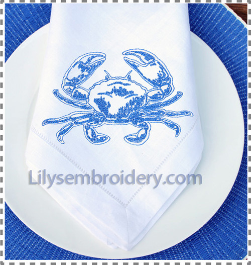 Crab Machine Embroidery Design   2 sizes
