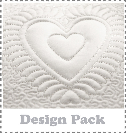 Hearts Quilting Blocks  Machine Embroidery Design Pack