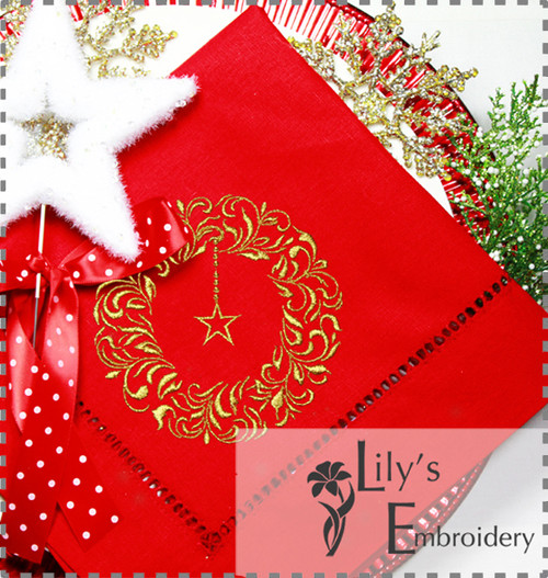 Christmas Wreath Machine Embroidery Designs