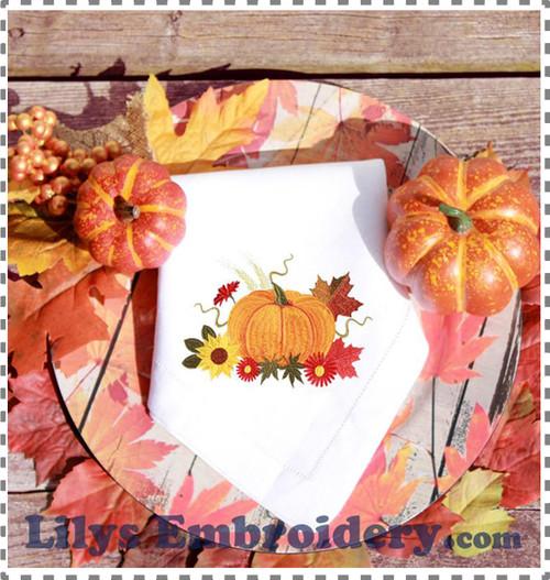 Elegant Pumpkin Machine Embroidery Design