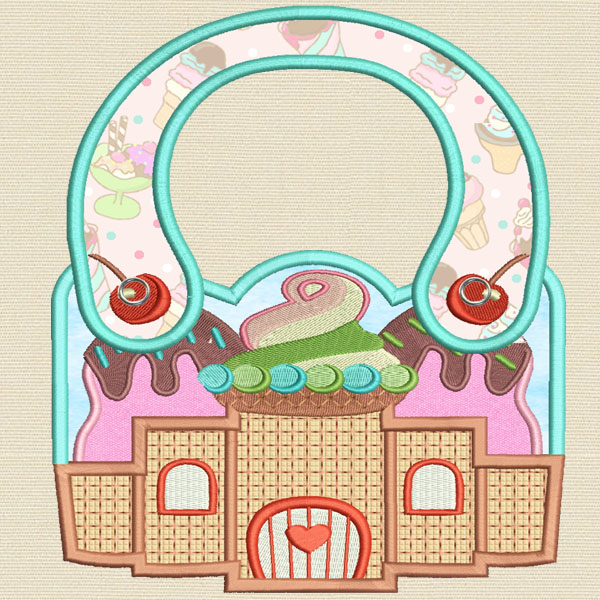 Baby Castle machine embroidery design