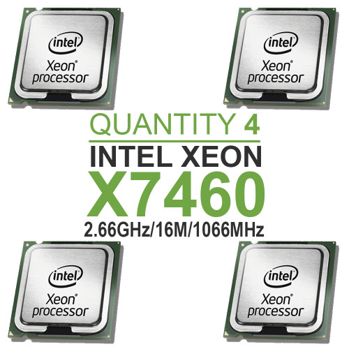 Qty 4 | Intel Xeon X7460 Hexa Core Processors 2.66GHz/16M/1066MHz