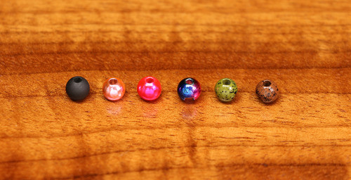 Slotted Tungsten Beads - Fl. Pink