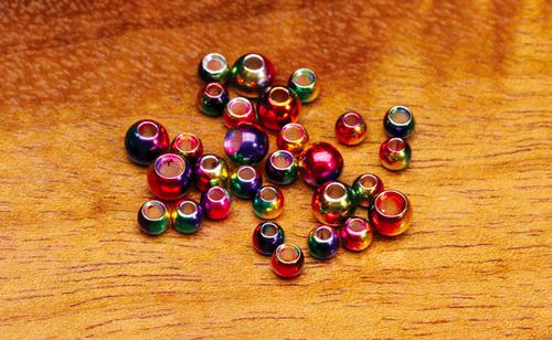Multihued Rainbow Brass Beads