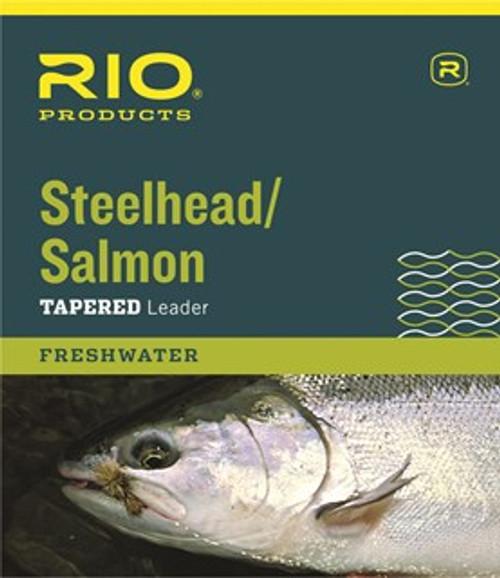 Rio Salmon/Stlhd. Leaders 3pk 10lb. Glacial