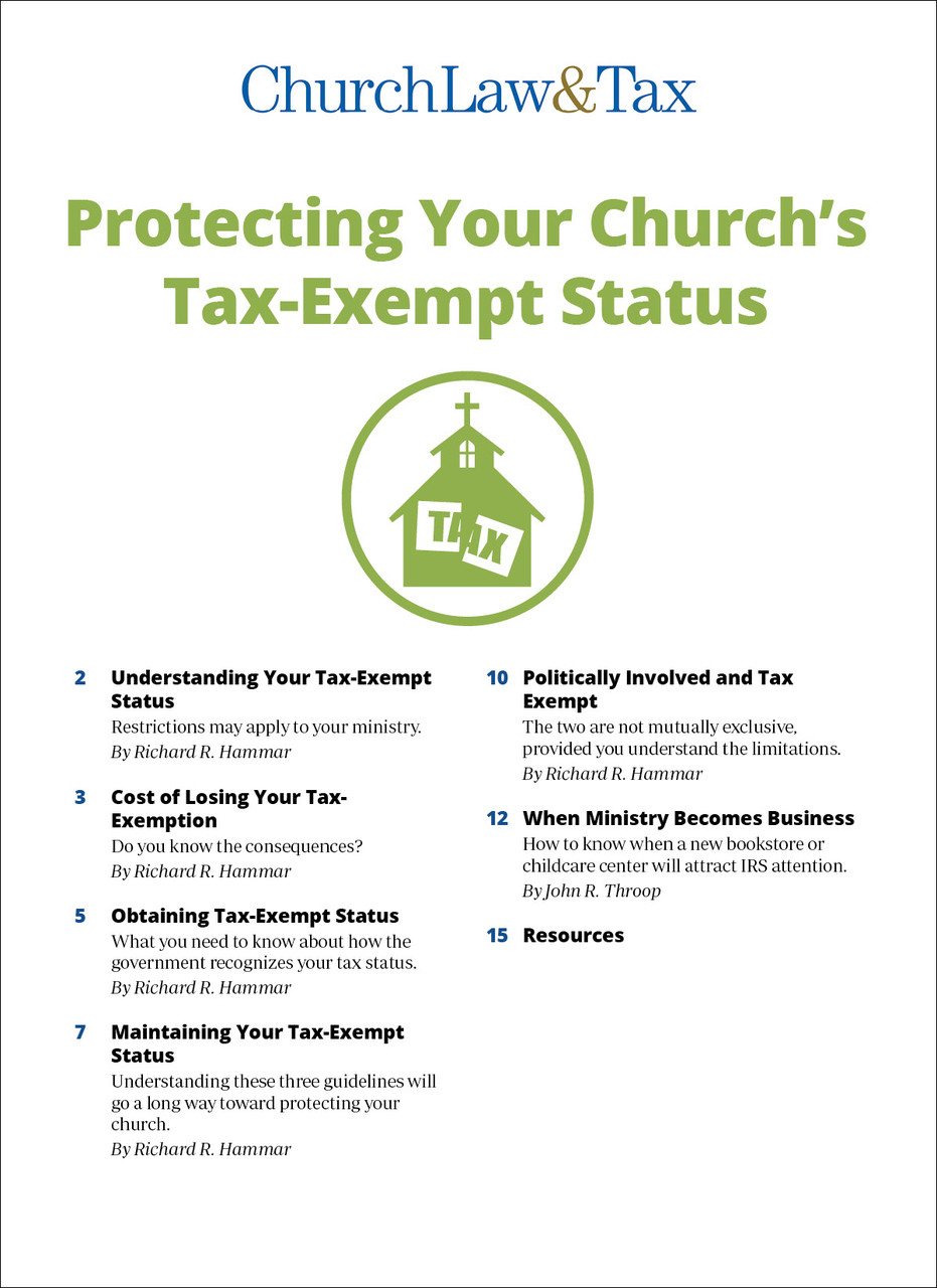 church tax exempt status requirements