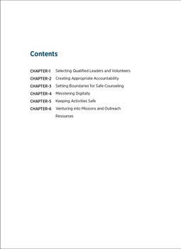 Essential Guide to Youth Ministry Safety: Table of Contents