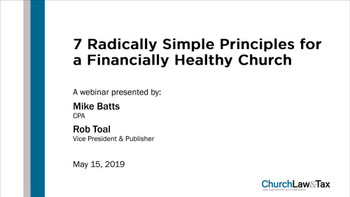 7 Radically Simple Principles for a Financially Healthy Church