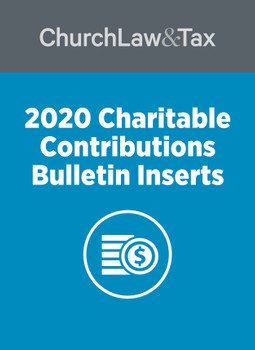 2020 Charitable Contributions Bulletin Inserts