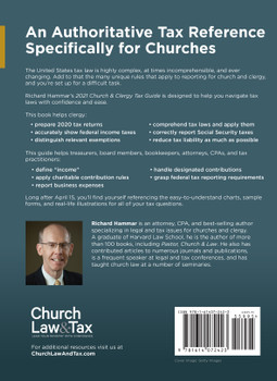 2021 Church & Clergy Tax Guide (PDF)