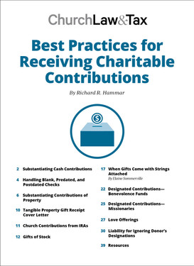 Best Practices for Receiving Charitable Contributions Table of Contents