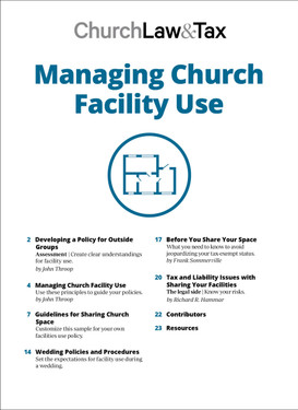 Managing Church Facility Use Table of Contents