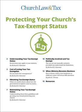 Protecting Your Tax-Exempt Status Table of Contents