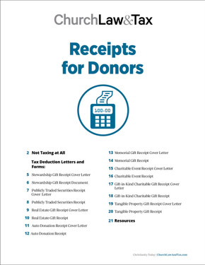 Receipts for Donors