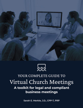 Your Complete Guide to Virtual Church Meetings: A toolkit for legal and compliant business meetings - COVER