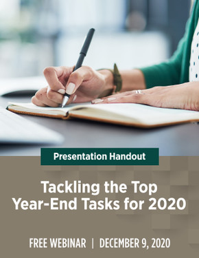 Tackling the Top Year-End Tasks for 2020