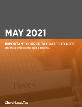 May 2021: Important Church Tax Dates to Note