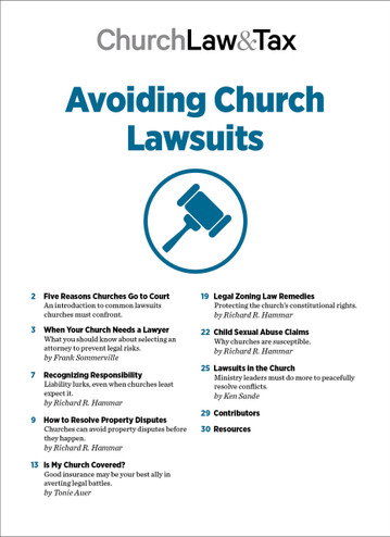 Avoiding Church Lawsuits Table of Contents