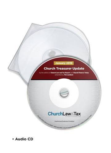 2019 Update for Church Treasurers