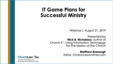 IT Game Plans for Successful Ministry