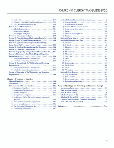 2020 Tax Guide Table Of Contents pg.5