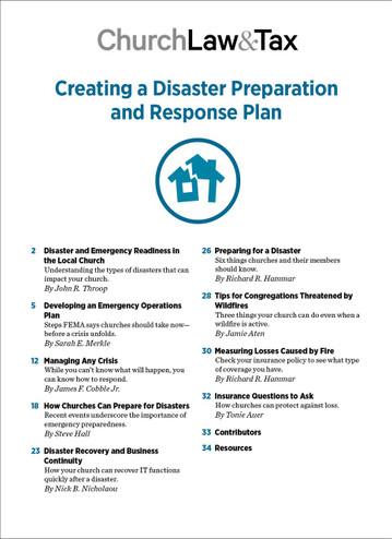 2020 Emergency Bundle - Creating a Disaster Preparation and Response Plan - TOC