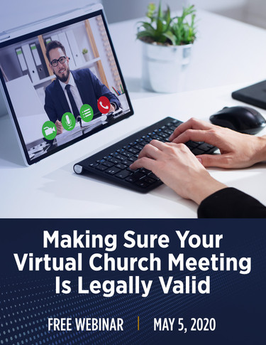 Making Sure Your Virtual Church Meeting is Legally Valid - Cover Image