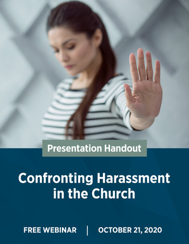 Confronting Harassment in the Church - Cover