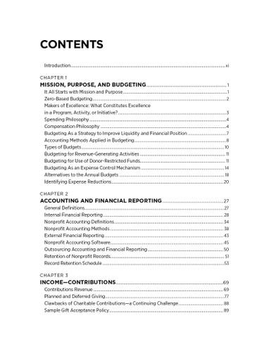 Nonprofit Finance -TOC 1