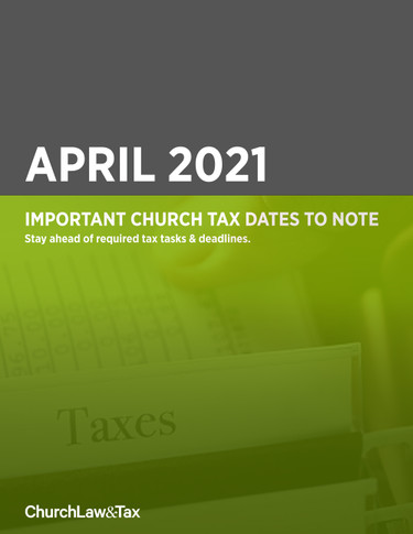 Important Church Tax Dates to Note: April 2021
