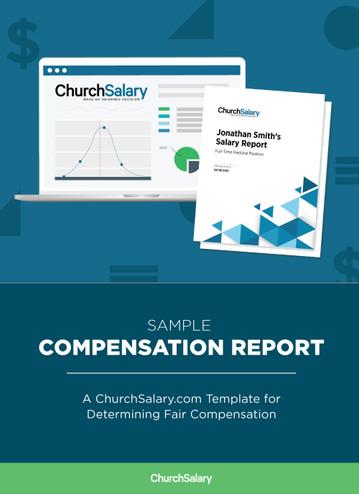 Sample Compensation Report: A ChurchSalary.com Sample Report for Determining Fair Compensations - Cover Image