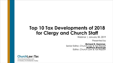 The Top 10 Tax Law Developments for 2019
